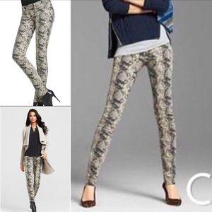 CAbi snakeskin print skinny pants